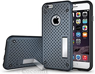 Cocomii Cool Armor iPhone 6S/6 Case New [Heavy Duty] Premium Tactical Grip Kickstand Shockproof Bumper [Military Defender] Full Body Dual Layer Rugged Cover for Apple iPhone 6S/6 (Cool.Metal Slate)