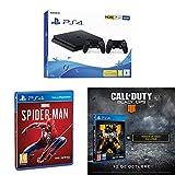 Playstation 4 (PS4) - Consola 500 Gb + 2 Mandos Dual Shock 4 (Edición Exclusiva Amazon)  - nuevo chasis F + Marvel´s Spiderman + Call of Duty: Black Ops IIII + Tarjeta de visita exclusiva (Exclusiva Amazon)