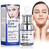 Augenpartie Serum,Antialterung Augenserum,Augenringe Creme,Anti Aging Augenfaltencreme für Falten, Krähenfüße, Augenringe und Schwellungen