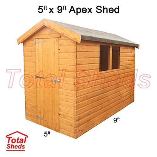Total Sheds 9ft (2.7m) x 5ft (1.5m) Shed Apex Shed Garden Shed Timber Shed