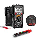 KAIWEETS 4000 Counts TRMS Auto-Ranging Digital Multimeter HT113B & Non-Contact Voltage Tester & Electrical Outlet Tester/GFCI Tester (Multi-Tools)