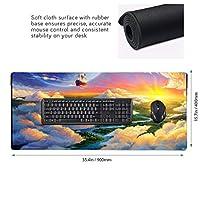 夕暮れ 雲 船 夢のような マウスパッド ゲーミングマウスパット デスクマット キーボードパッド 滑り止め 高級感 耐久性が良い デスクマットメ キーボード パッド おしゃれ ゲーム用(90cm*40cm)