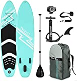 FBSPORT Tabla Sup Hinchable, Hinchable de Paddle Surf, Tabla de Surf Hinchable, Tabla de Paddle Surf, Sup Kit con Remo de Aluminio + Bomba +Accesorios Completos | Medidas: 320×78×15cm