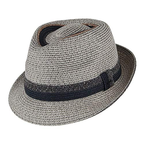 Village Hats Chapeau Trilby Archer Gris Bailey - Large
