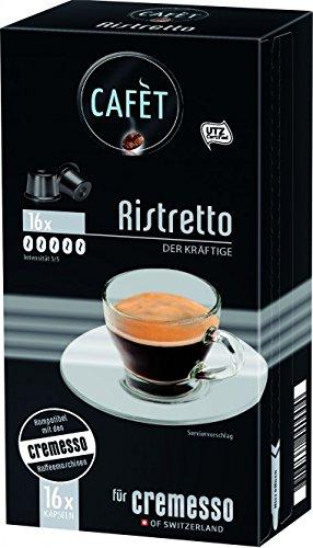 Cafèt Ristretto 80 Kapseln - für Cremesso/Delizio Kaffeemaschinen
