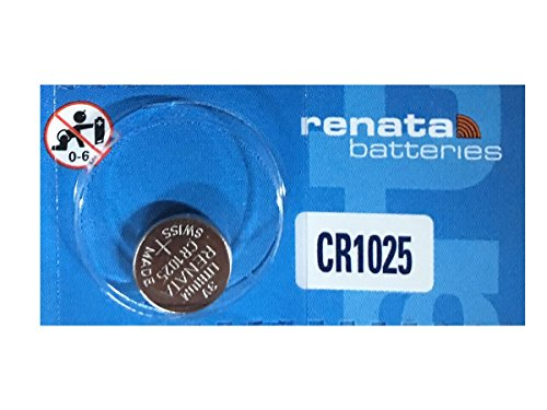 Renata CR1025 Lithium Coin Batteries 5 Pack