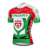 Crossrider - Country Jerseys - Love Your Country! Cycling Jerseys & Sets Collection - Team Hungary Colorful Men's Cycling Jersey & Shorts Set - Cycling Jersey - 3XL - Green