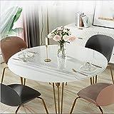 Clair Nappe De Table Protecteur Rond Plastique Nappe Étanche Cristal Coussinets De Bureau pour Café Repas Jour d'action De Grâces Tissu De Table Un Diamètre 80cm(31inch)