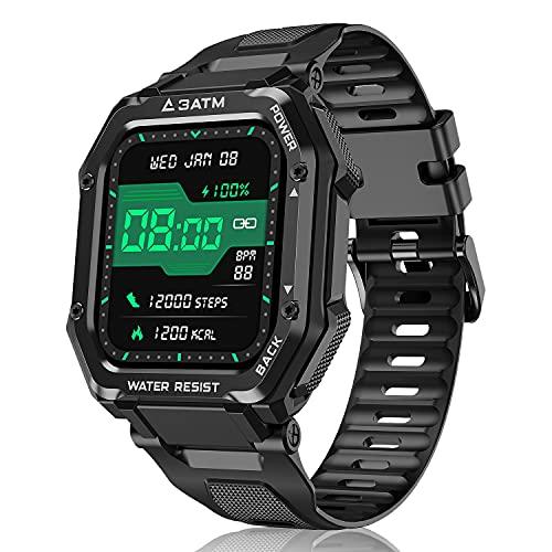 Smartwatch Reloj Inteligente Hombre Mujer, 1,69' Relojes Inteligentes con Pulsómetro, Podómetro, Presión Sanguínea, 20 Modos Deportivo Pulsera Actividad Inteligente Impermeable para Android iOS