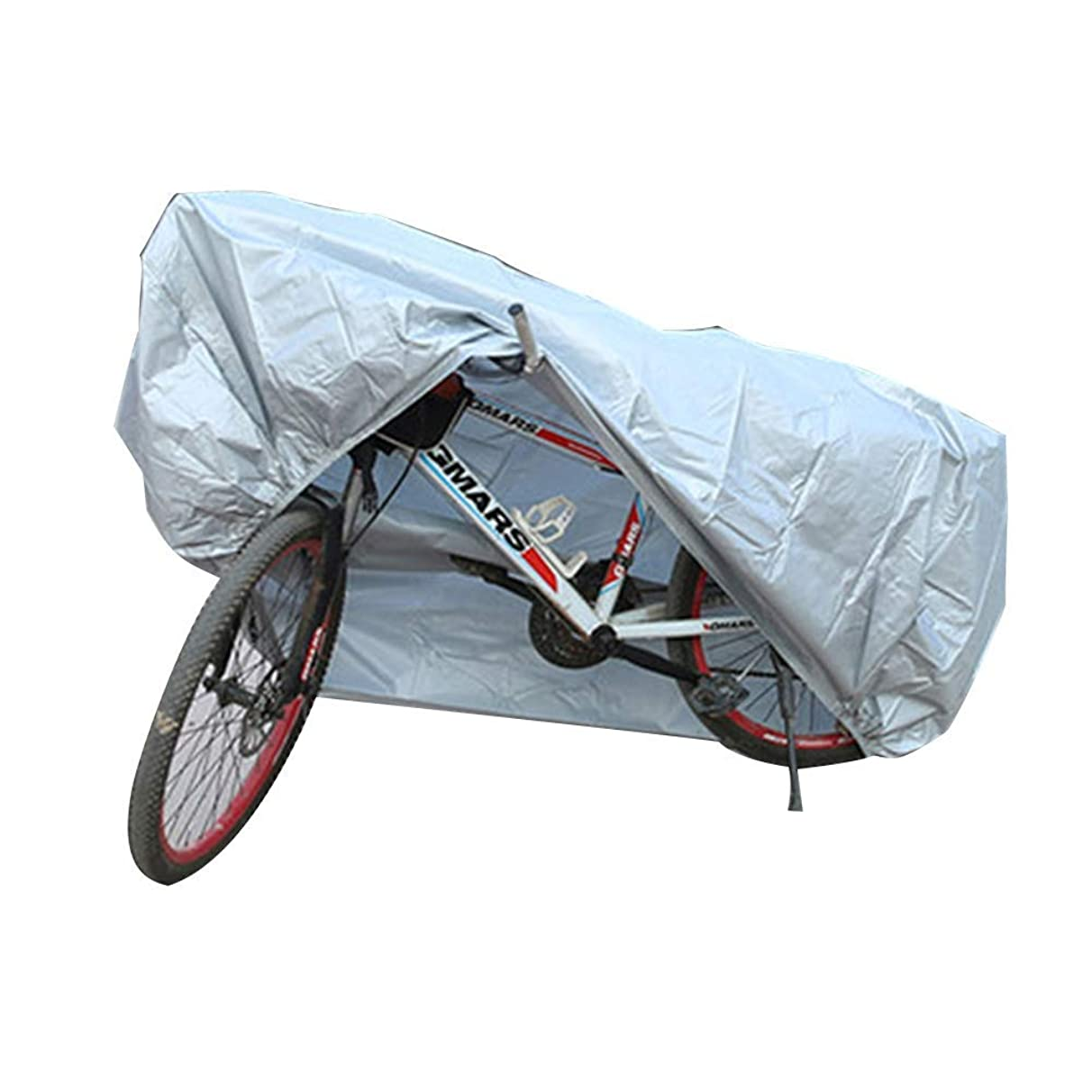 Bicycle Cover Waterproof Shade Net/Sunscreen Tarpaulin, Mountain Bike Rainproof Antirust, Multiple Sizes Available, WenMing Yue, Silver, l