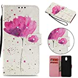 Nokia 3.1 Case 2018, Shockproof PU Leather Flip Wallet