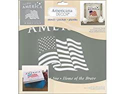 American Tribute stencil for painting canvas bags