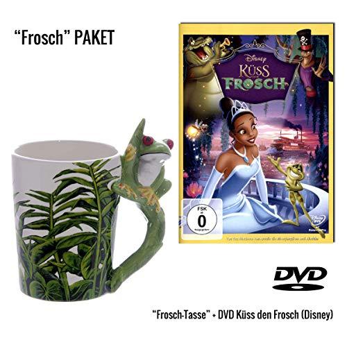Küss den Frosch DVD + 3D Froschtasse Geschenkset