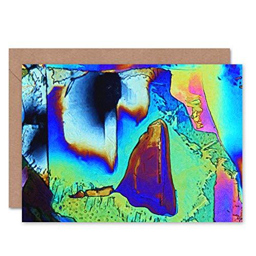 Fine Art Prints Kristallen Van Vitamine B6 Schilderij Wenskaart Met Envelop Binnen Premium Kwaliteit