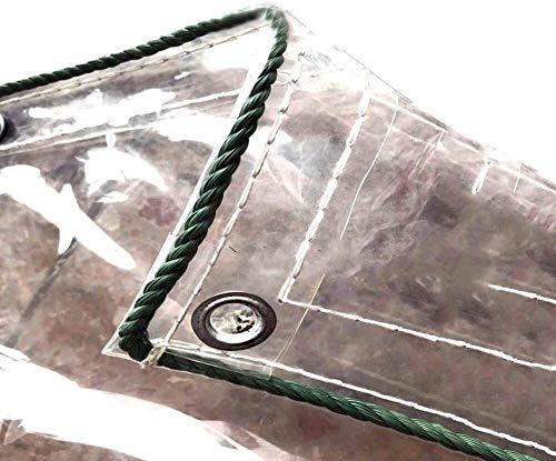 Glass Clear Tarpaulin Plane Klare Wasserdichte Faltbare Bodenblechabdeckung, Reißfestes Plastiktuch Für Balkon/Camping/Dach (Color : Clear, Size : 1.1x2m)