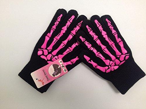 Noga Ghost Main Tricot Gants Chauds Écran Tactile Offset Téléphone Mobile Fonctionnement Gants Tactiles (Rose Rouge)