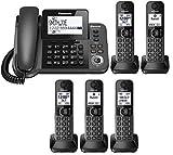 Best Corded Cordless Phones - Panasonic KX-TGF383M plus two KX-TGFA30M handsets DECT 6.0 Review