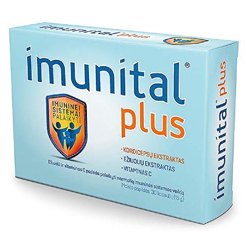 Imunital Plus - Cordyceps 2000mg, Echinacea 400mg, Vitamin C 50mg Per Capsule, Manufacturer Switzerland, 30 Capsules