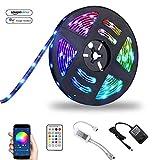 LED Streifen Set Alexa Wifi Strip, Smart RGB LED Strip Lichtleiste Arbeitet mit Alexa, Google Home...