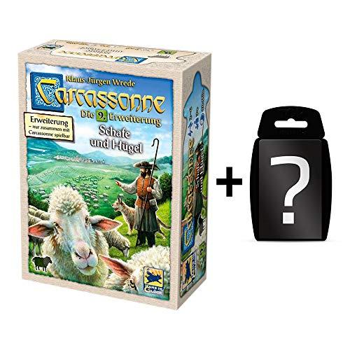 Carcassonne - Schafe und Hügel - Die 9. Erweiterung | DEUTSCH | Set inkl. Kartenspiel