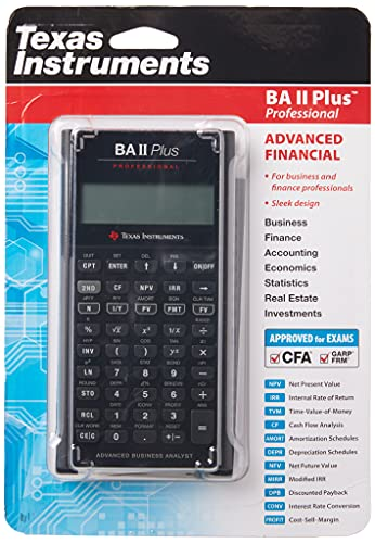 Texas Instruments BA II Plus Professional Calcul