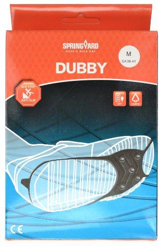 Springyard Simple DIY Rutschhemmer/Anti-Rutsch-Unterlagen mit Spikes, rutschfest, Schuh, Schuhe, Chrom-Kunststoff, &- Ice Damen Top Dubby-Größe M (38-41)