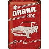 Nostalgic-Art Retro Tin Sign – Volkswagen – VW Golf – The Original Ride – Bus Gift idea, Metal Plaque, Vintage Design for Decoration, 20 x 30 cm