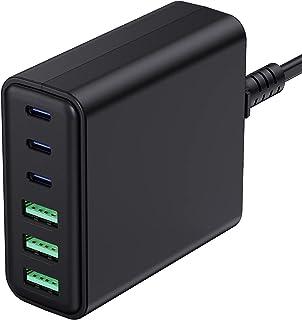 USB C Fast Charger, Sacrack 90W 6-Port Desktop Charging...