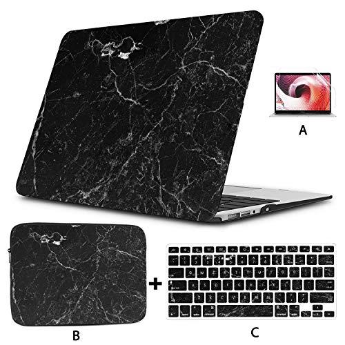Mac Case Black Marble Luxury Decor Texture 13 Macbook Case Hard Shell...