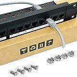 CMYKZONE 24 Port 1U Pannello Patch Cat6 Montabile in Rack PRO Rj45 110 Network Mini Patch Panel Stampaggio Integrato, Senza Ruggine, Resistente (Cate6 Rj45 Dritto)