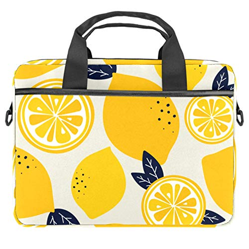 Laptop Tote Bag Computer Rucksack Compatible with Chromebook, MacBook Pro Yellow Fruit Lemon (3)