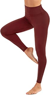 High Waist Yoga Leggings for Women Capri Tummy Control Workout Athletic Running Pants Active Non-See Through 4 Way Stretch