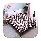 Colcha 2019 nuevo colchón protector impermeable colchón cubre popular patrón impresión cubierta para cama 160X200Cm Transpirable-Color 12-90X200X30Cm