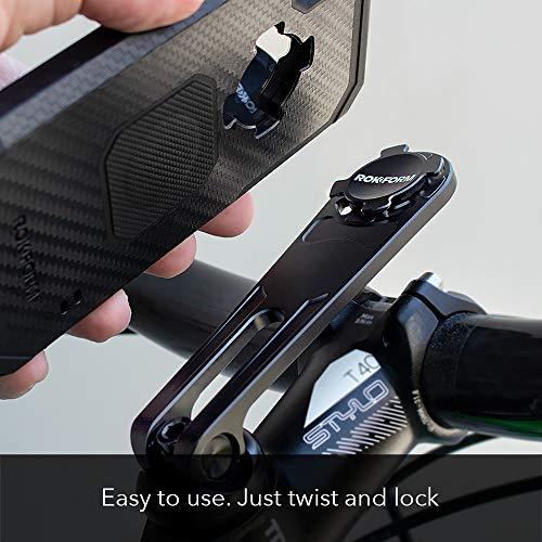 Rokform Pro Series, Quad Tab, Twist Lock, Bike Stem Phone Mount, Aircraft Aluminum, Ultra Light , Adjustable, BLACK