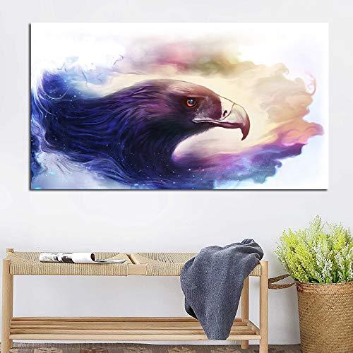sanzangtang Bunte Tieradlermalerei Kunstplakat Wandmalerei Wohnzimmer Tier Moderne Dekoration große rahmenlose Malerei 60cmX105cm