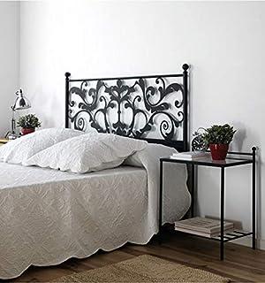 Cabezal de forja Caleta - Crema 22, Cabecero para colchón de 135 cm