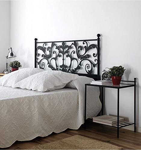 Cabezal de forja Caleta - Crema 22, Cabecero para colchón de 200 cm