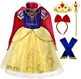 Romy's Collection Princess Snow White Toddler Girls Costume Dress Up (3-4, Snow Blue)