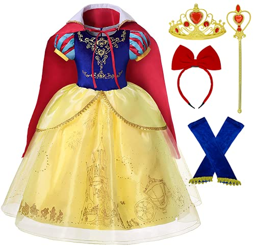 Romy's Collection Princess Snow White Toddler Girls Costume Dress Up (2-3, Snow Blue)