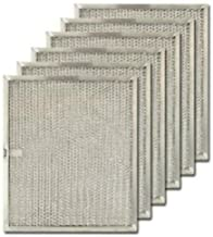 Air Filter Factory 6-Pack Compatible Replacement for Broan S97007894, 97007894 Aluminum Grease Mesh Range Hood Filter 9-7/8 x 11-5/8 x 3/8 Inches AFF128-M