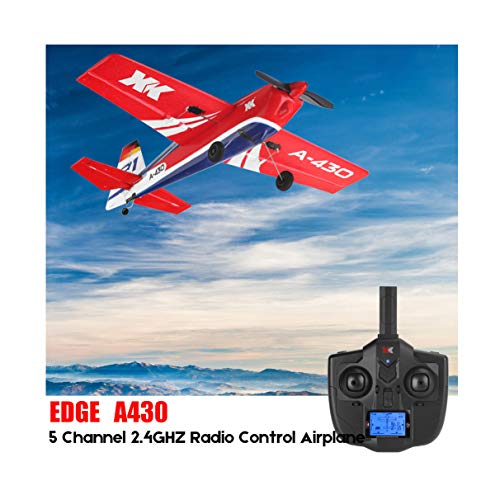 INiubi XK A430 2.4G 5CH Brushless Motor 3D6G System RC Airplane Aircraft Best Gift for Friends and RC Toys Fans(Red)