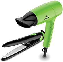 Havells Travel Essential HC4035 Hair dryer & Hair Straightener combo (Green)