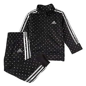 adidas girls Tricot Jacket & Jogger Active Clothing Set