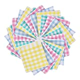 Fasmov 24 Pack 13.7 x 13.7 Inches Kitchen Dish Cloths Cotton Flat Waffle