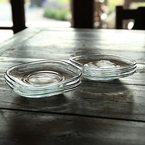 Gürallar Zen - Tee-Untersetzer XL für Türkische Teegläser und Becher, Eckig Kare, 12,5 x 12,5 cm, 6 Stück