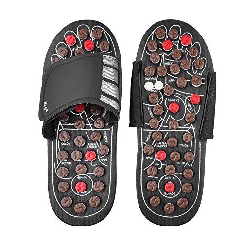 Anself Akupressur Massage Slipper Fußmassagegerät Hausschuhe Schuhe für Männer Frauen - L (42-43)
