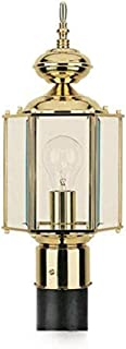 Sea Gull Lighting 8209-02 Outdoor Post Mount with Clear Beveled?lass Shades, Polished Brass Finish by Sea Gull Lighting [並...