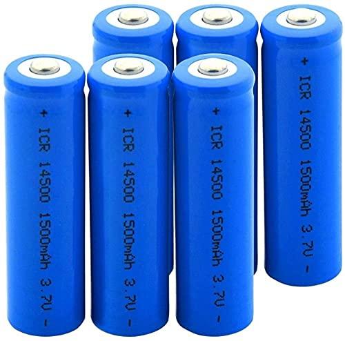 3.7V Icr 14500 1500Mah Li-Ion Batería De Litio para Modelo Aéreo Micrófono-6 Piezas