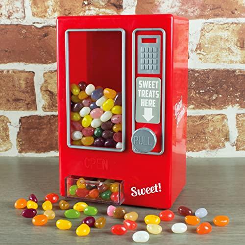 Global Gizmos 50800 - Máquina de caramelos para niños, diseño retro, color rojo y plateado
