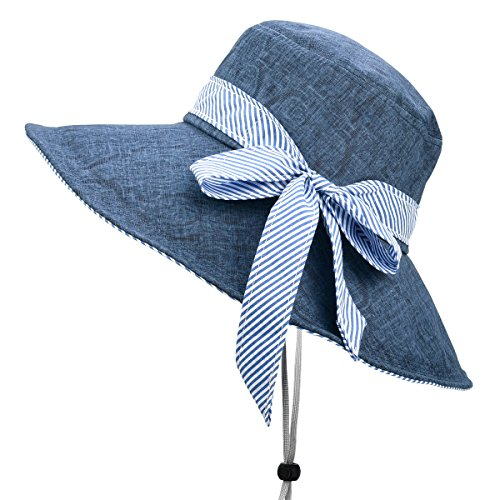 Sun Hats for Women Roll-up Wide Brim Summer Beach Hat Foldable Floppy Cotton Hat